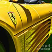 My Yellow Ferrari Poster