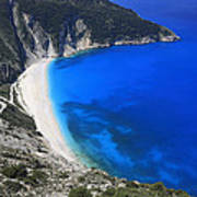 Myrtos Beach Kefalonia Greece  Poster