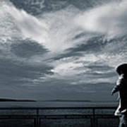 Mystery Man Walks The Deck Poster