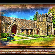 Mystic Church - Featured In Comfortable Art Group Poster