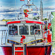 Mystic Fireboat Poster
