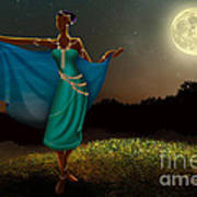 Mystic Moonlight V1 Poster by Bedros Awak