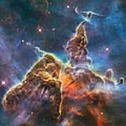 Mystic Mountain Part Of Carina Nebula Poster