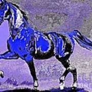 Mysterious Stallion Abstract Poster
