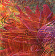 Mystical Dahlia Poster
