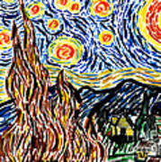 Vincent Van Goghs Starry Night Poster