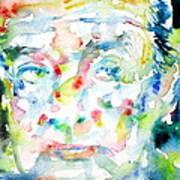 Nabokov Vladimir - Watercolor Portrait Poster