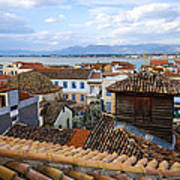 Nafplio Rooftops Poster by David Waldo