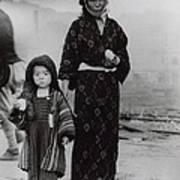 Nagasaki Atomic Bomb Survivors Holding Poster