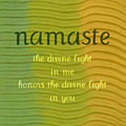 Namaste Poster by Michelle Calkins