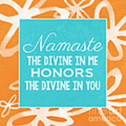 Namaste Watercolor Flowers Poster