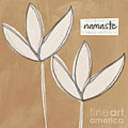 Namaste White Flowers Poster