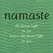Namaste With Blue Waves Poster
