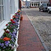 Nantucket Street Scene Poster