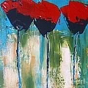 Napa Valley Red Poppys Poster