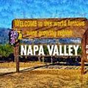 Napa Valley Sign Poster
