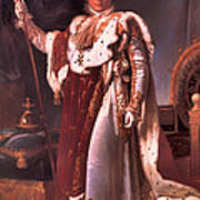 Napoleon In His Coronation Robes  Poster