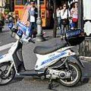 Napoli Police Scooter Poster