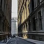Narrow Manhattan Street Poster