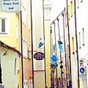 Narrow Street In Passau Germany Poster