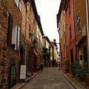Narrow Street In Provence Poster