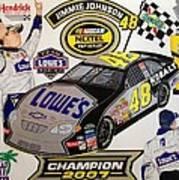 Nascar 2007 Champion Poster