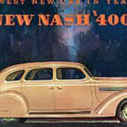 Nash 400 - Vintage Car Poster Poster