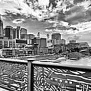 Nashville From The Shelby Bridge Poster