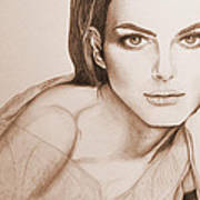 Natalie Portman Poster by Kim Lagerhem