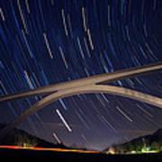 Natchez Trace Bridge At Night Poster