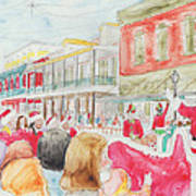 Natchitoches Christmas Parade Poster by Ellen Howell