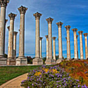 National Capitol Columns Poster