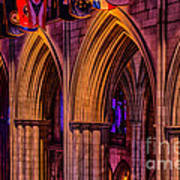 National Cathedral Arches Poster
