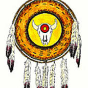 Native American Ceremonial Shield Number 2 Poster
