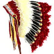 Native American Headdress Poster