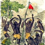 Native American Indian War Dance Poster