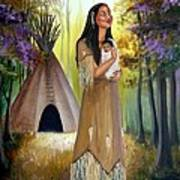 Native American Mother And Child Poster