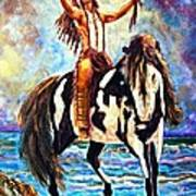 Native American Warrior Poster