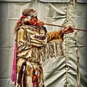 Native American With Blowgun Poster