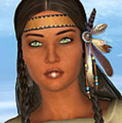 Native American Woman Poster by Design Windmill