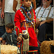 Native American Youth Dancer Poster