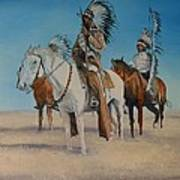 Native Americans On Horseback Poster
