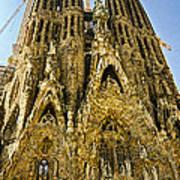 Nativity Facade - Sagrada Familia Poster