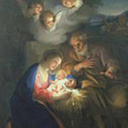 Nativity Scene Poster by Anton Raphael Mengs