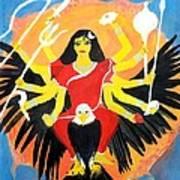 Nava Durga Chandraghanta Poster by Pratyasha Nithin
