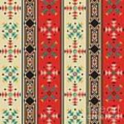 Navajo Style Pattern Poster