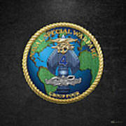 Naval Special Warfare Group Four - N S W G-4 - On Black Poster