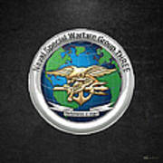 Naval Special Warfare Group Three - Nswg-3 - On Black Poster