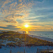 Navarre Beach Sunrise 2014 09 26 01 C 0650 Poster