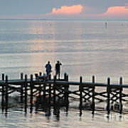 Navarre Beach Sunset Pier 35 Poster